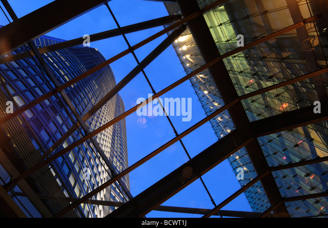 Modern building complex in Roppongi Hills in Roppongi district Tokyo Japan - Stock Image