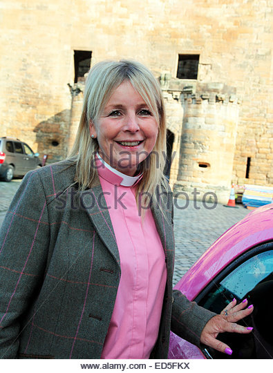 Rev Cheryl McKellar-Young, Associate Minister of St Michaels Church in Linlithgow. - Stock Image