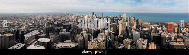 View of Chicago from the Skydeck, panoramic view, Chicago, Illinois, USA - Stock-Bilder