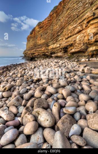 San Diego, California, United States of America Shore Of Stones - Stock Image