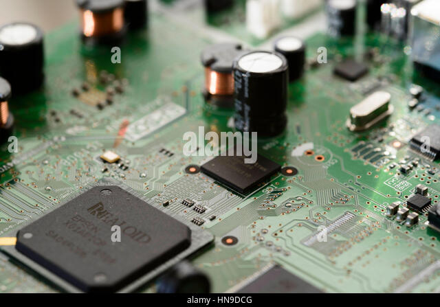 Close-up of electronic circit board - Stock Image