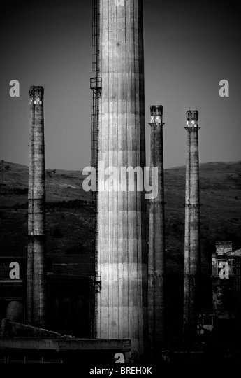Romania  abandoned factory - Stock Image
