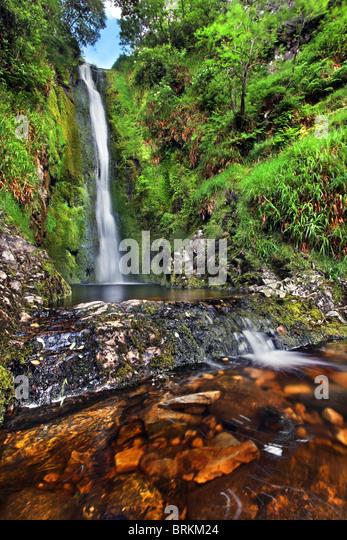 Glenevin Waterfall, Donegal, Ireland. - Stock-Bilder