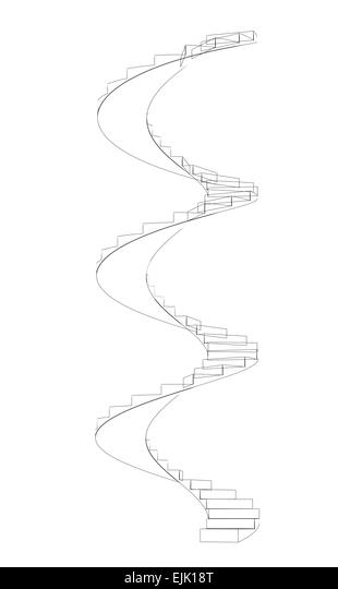abstract spiral structure perspective wire frame stock photos  u0026 abstract spiral structure