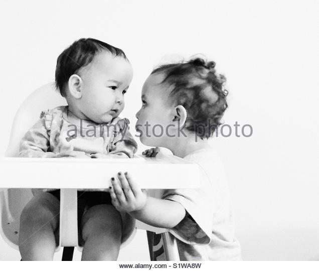 Sibling love. - Stock Image