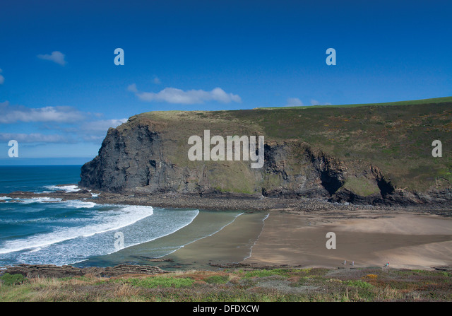 Pencannow Point from Crackington Haven, Cornwall - Stock Image