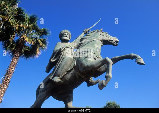 Crusader Statue, Beirut, Lebanon - Stock Image