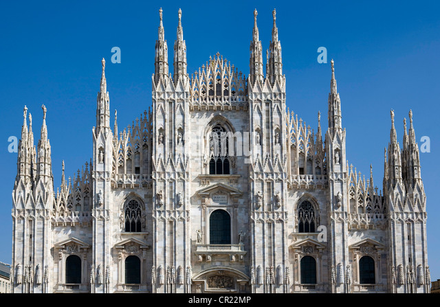 Ornate architecture of cathedral - Stock Image