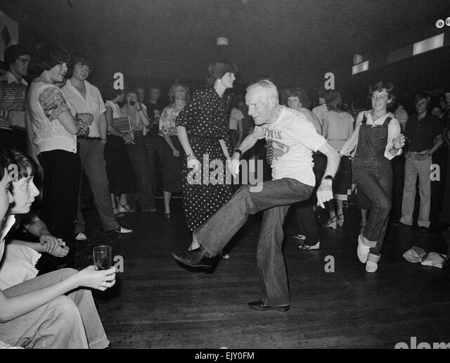 Dancing grandad Edwon Rolestone shows off some of his moves. 6th May 1979. - Stock Image