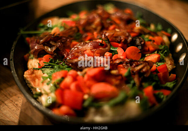 Tasty food and desserts - Stock Image