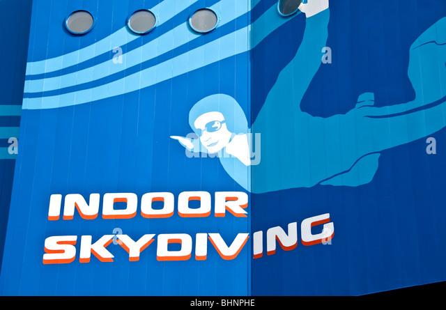 Skyventure Orlando indoor sky diving sign I-Drive International Drive orlando fl florida - Stock Image