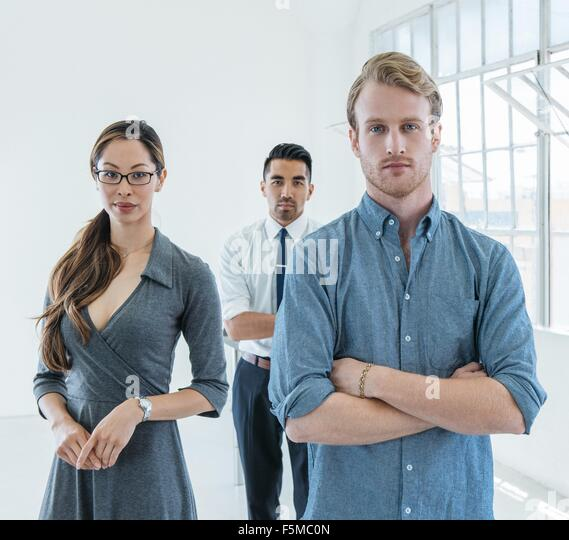 Portrait of business people - Stock Image