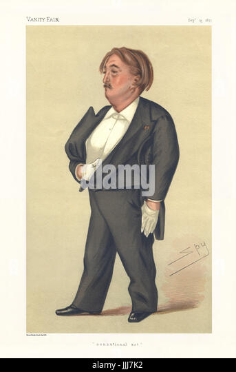 Paul Gustave Doré - portrait. Vanity Fair caricature by Spy (real name Sir Leslie Matthew Ward, 21 November - Stock Image