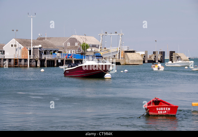 Nantucket Massachusetts Straight Wharf Stock Photos