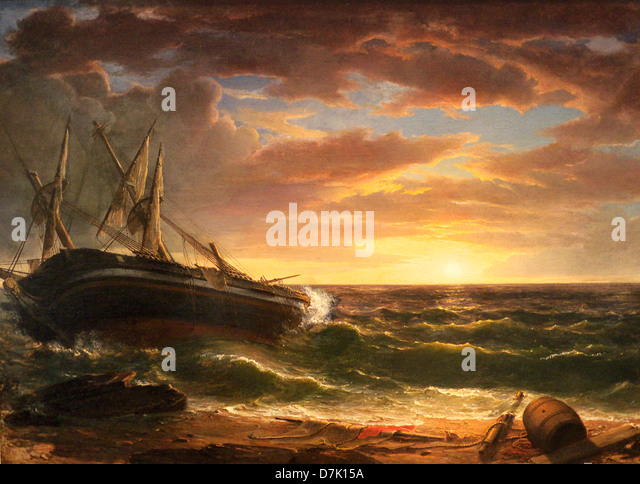 The Stranded Ship by Asher Brown Durand - Stock Image