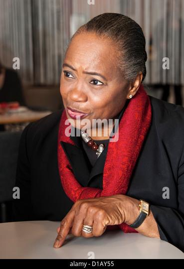 American opera-singer Barbara Hendricks during interview at Bookfair in Gothenburg Sweden - Stock Image