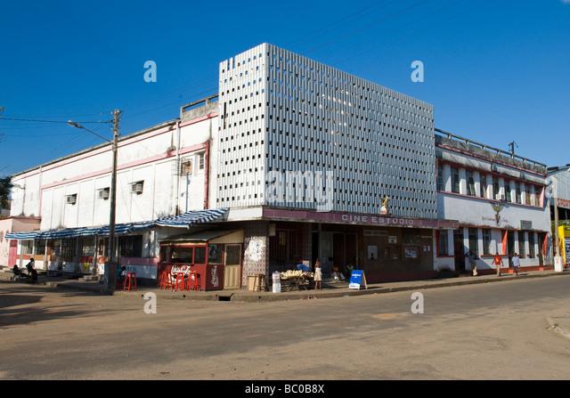 A cinema in Quelimane Mozambique - Stock Image