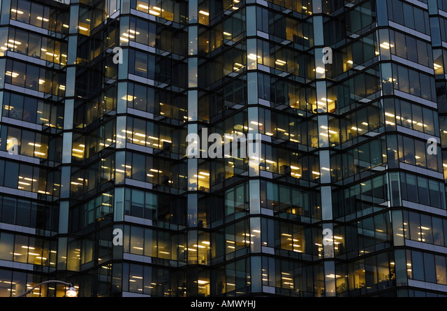 Modern building glass and metal wall abstract background texture - Stock Image