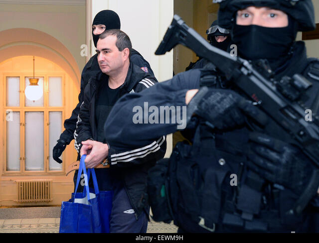 Prague, Czech Republic. 22nd Jan, 2015. Prague Municipal Court decides whether to released from custody Russian - Stock Image