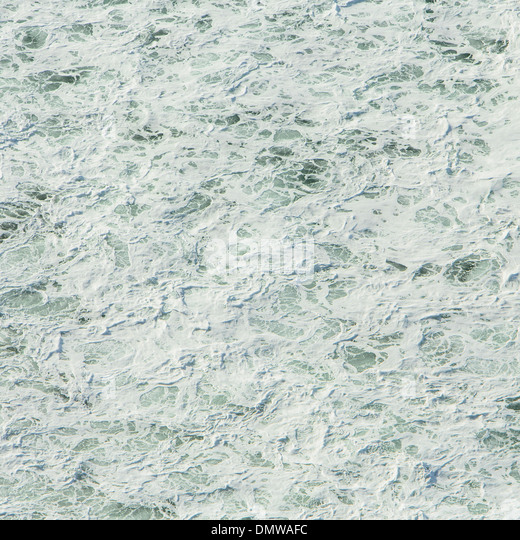 surface of  Pacific ocean with wave patterns and white water at Manzanita Oregon. - Stock Image