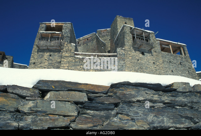 Shatili Georgia Village House - Stock Image