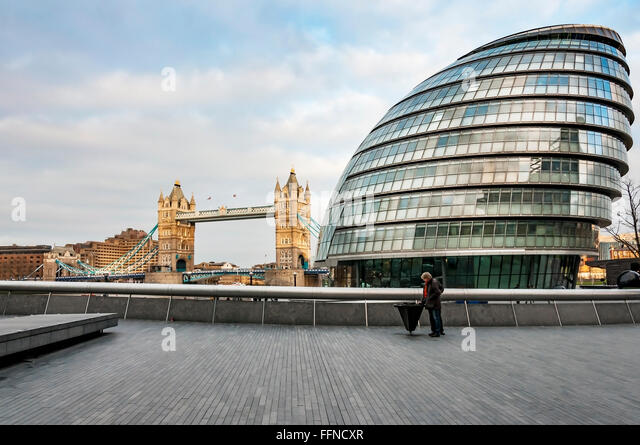 view of Modern London - Stock Image