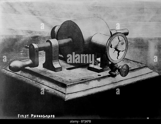 Phonograph stock photos phonograph stock images alamy for Who invented the electric motor in 1873