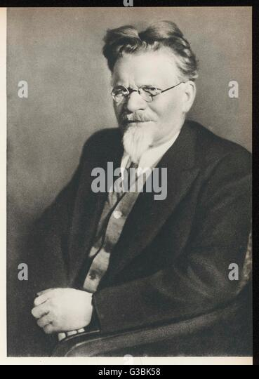 MIKHAIL IVANOVICH KALININ Russian statesman, cofounder  of 'Pravda', held many senior  posts in Soviet government. - Stock Image