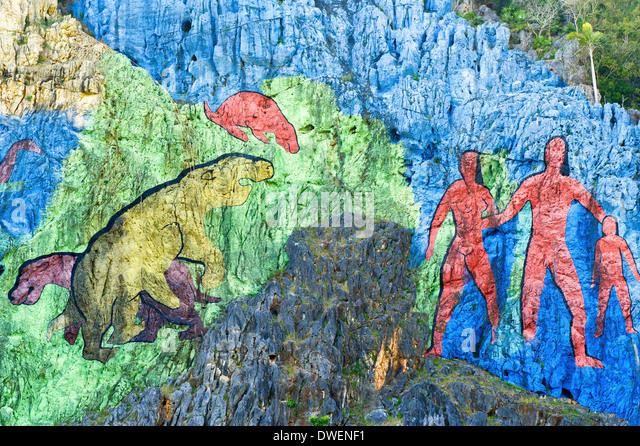 Mural prehistoria stock photos mural prehistoria stock for Mural de la prehistoria