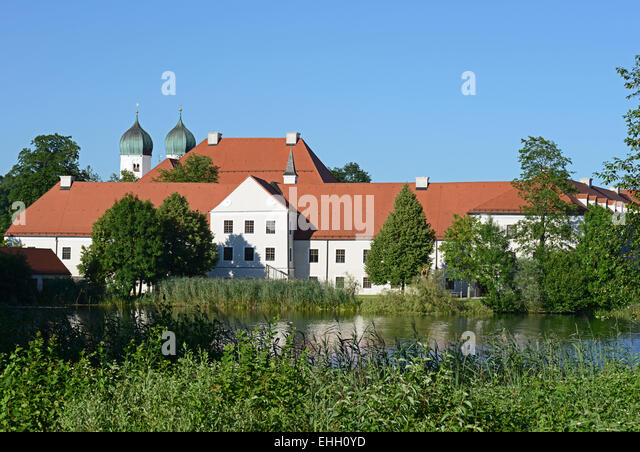 Kloster Seeon / Seeon abbey - Stock Image