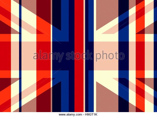 Union Jack - homage to the flag - retro classic illustration - Stock Image