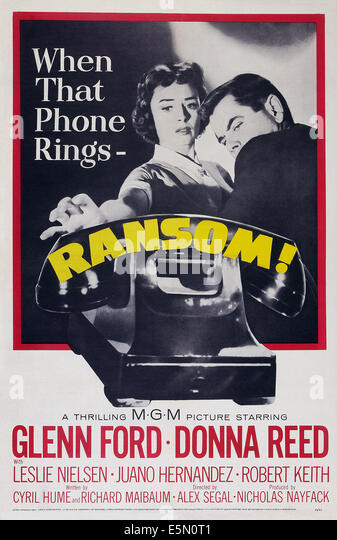 RANSOM!, US poster art, from left: Donna Reed, Glenn Ford, 1956 - Stock Image