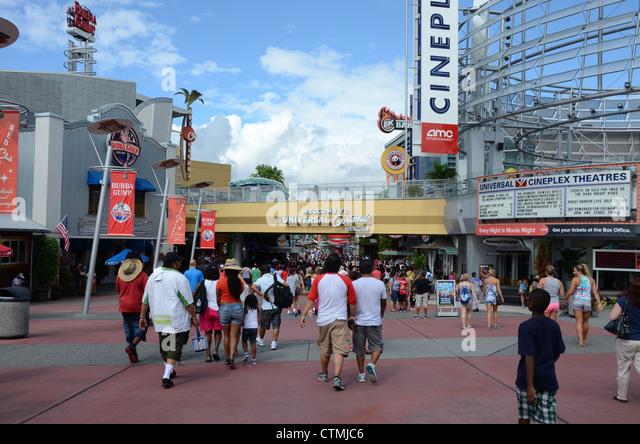 The Entrance to Universal Orlando Resort Florida. - Stock Image