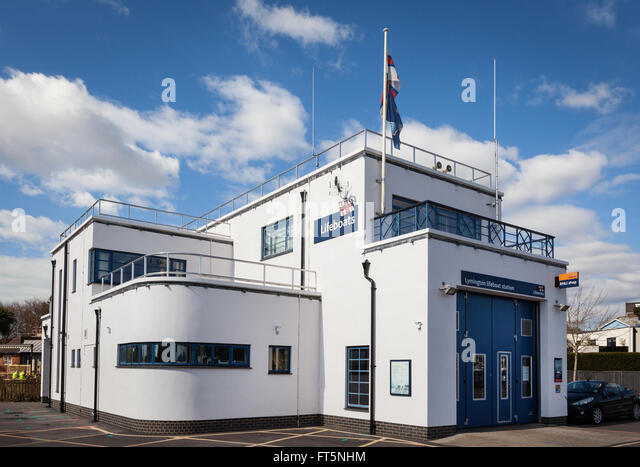 RNLI Lifeboat Station in Lymington, Hampshire, UK - Stock Image