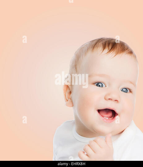 smiling baby - Stock Image