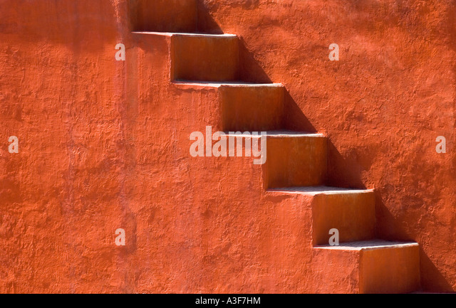 Steps on a building, Jantar Mantar, New Delhi, India - Stock-Bilder