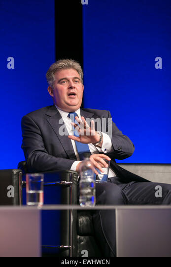 The Chartered Institute of Housing Conference and Exhibition 2015. Housing Minister and President's address. - Stock Image