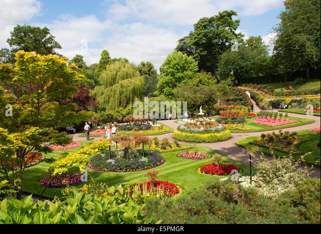 Quarry Gardens Fountain Shrewsbury Shropshire Stock Photos Quarry Gardens Fountain Shrewsbury