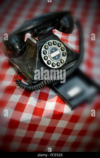bakelite telephone - Stock Image