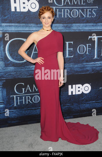 Hollywood, CA, USA. 10th Apr, 2016. Sophie Turner. Arrivals for the Premiere Of HBO's ''Game Of Thrones'' - Stock Image