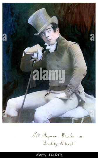 Seymour Hicks as Captain Valentine Brown in 'Quality Street', a comedy by J.M. Barrie. Ran for 459 performances - Stock Image