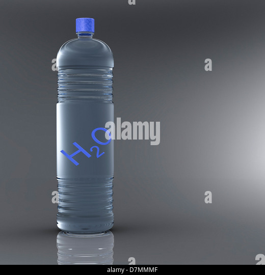 Bottle water, artwork - Stock Image
