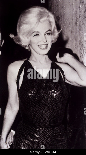Marilyn Monroe at a party in 1962. Courtesy: CSU Archives / Everett Collection - Stock Image