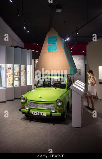 Berlin. Germany. Permanent exhibition 'Everyday Life in the GDR' at Museum in der Kulturbrauerei, Prenzlauer - Stock-Bilder