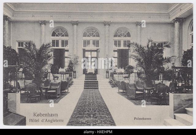 Hotel D'Angleterre, Copenhagen, Denmark, Palm Court - Stock Image