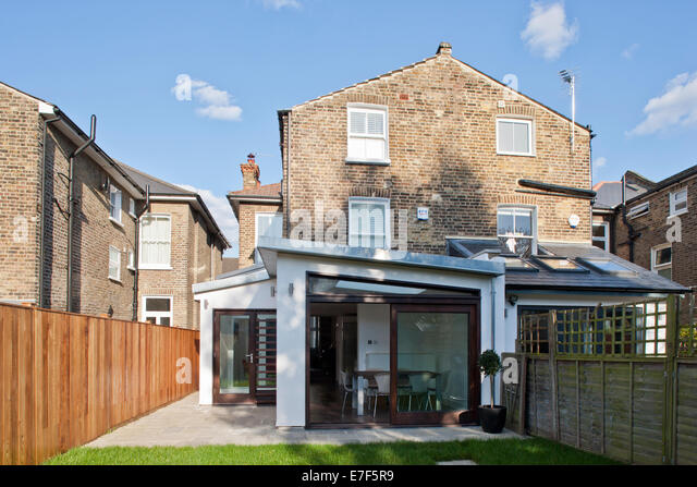 Modernised London Home. Rear extension. - Stock Image