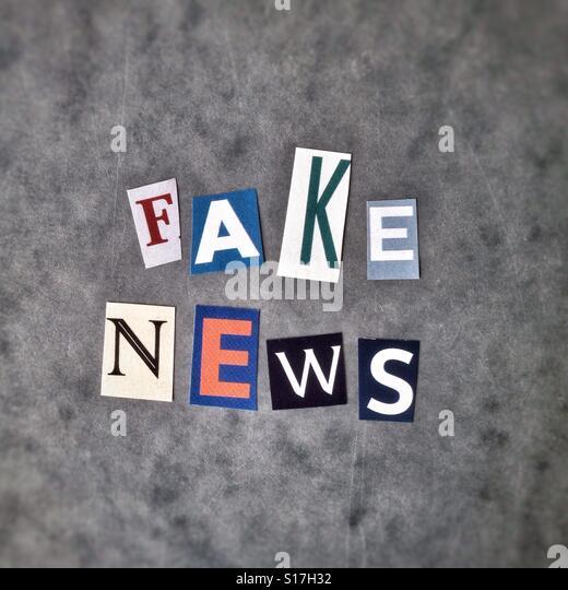 Fake news - Stock-Bilder