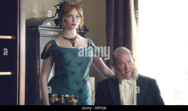 ANOTHER PERIOD Comedy Central TV series with Christina Hendricks and David Koechner - Stock Image