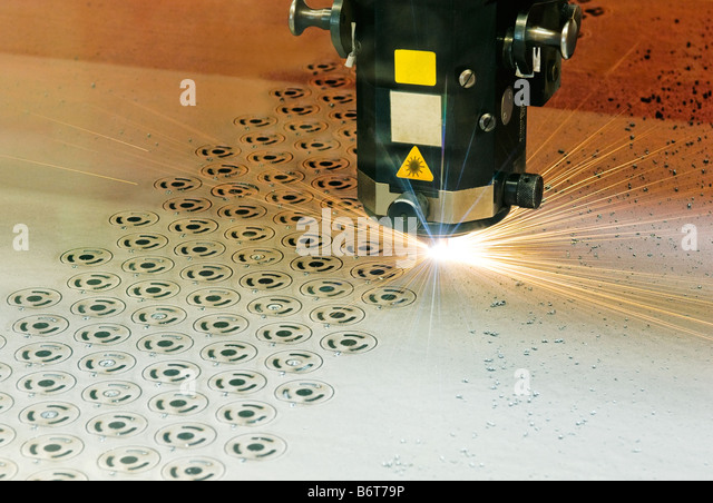 laser cutter - Stock Image