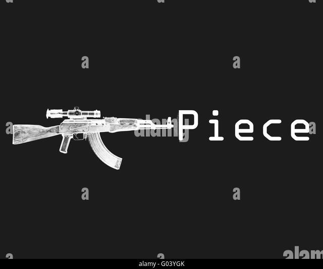 Gun and Piece - Stock Image